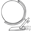black and white outline of a globe on a stand  gif, png, jpg, eps, svg, pdf