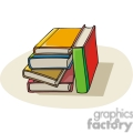 Cartoon colorful textbooks