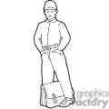 black and white outline of a boy waiting looking nervous gif, png, jpg, eps, svg, pdf