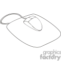 black and white outline of a mouse and mouse pad gif, png, jpg, eps, svg, pdf
