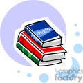 Cartoon stack of school textbooks