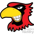 cardinal mascot showing teeth