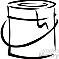 Paint can Clip Art Image - Royalty-Free Vector Clipart ...