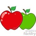 12931 RF Clipart Illustration Apples