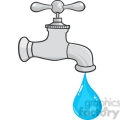 12878 rf clipart illustration water faucet with water drop  gif, png, jpg, eps, svg, pdf