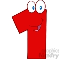4967-Clipart-Illustration-of-Number-One-Cartoon-Mascot-Character