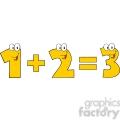 5044-clipart-illustration-of-number-1-plus-number-2-equals-number-3