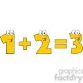 5044-Clipart-Illustration-of-Number-1-Plus-Number-2-Equals-Number-3
