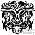 ancient tiki face masks clip art 009