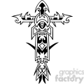 cross clip art tattoo illustrations 047