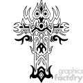cross clip art tattoo illustrations 025