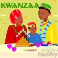 family celebrating kwanzaa gif, png, jpg, eps, svg, pdf