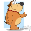 5224-Smiling-Fat-Dog-Showing-Thumbs-Up-Royalty-Free-RF-Clipart-Image