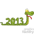 5117-Funny-Snake-Cartoon-Character-Showing-Numbers-2013-Royalty-Free-RF-Clipart-Image
