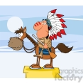 5133-Indian-Chief-With-Gun-On-Horse-Royalty-Free-RF-Clipart-Image