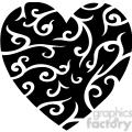 black stylized heart