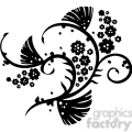 chinese swirl floral design 047  gif, png, jpg, eps, svg, pdf