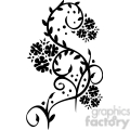 Chinese swirl floral design 049
