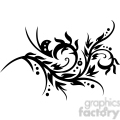Chinese swirl floral design 006
