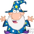 royalty free friendly wizard with open arms  gif, png, jpg, eps, svg, pdf