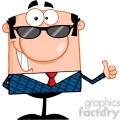Royalty Free Happy Business Manager With Sunglasses Showing Thumbs Up