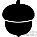 clip art of black acorn vector illustration