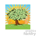 vector cartoon money growing on tree on a sunny day  gif, png, jpg, eps, svg, pdf