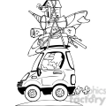 vacation travel clipart bw
