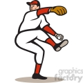 baseball pitcher leg up  gif, png, jpg, eps, svg, pdf