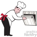 chef opening oven side  gif, png, jpg, eps, svg, pdf