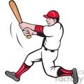 baseball batter swinging clipart