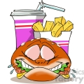 fast food combo cartoon