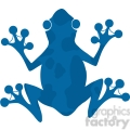 5641 royalty free clip art blue frog silhouette logo  gif, png, jpg, eps, svg, pdf