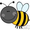 5599 Royalty Free Clip Art Smiling Bumble Bee Cartoon Mascot Character Flying