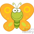 5612 Royalty Free Clip Art Smiling Butterfly Cartoon Mascot Character