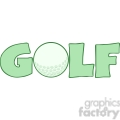5694 Royalty Free Clip Art Golf Text With Golf Ball