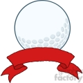 5698 Royalty Free Clip Art Golf Ball With Banner