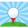 5699 Royalty Free Clip Art Golf Ball With Tee