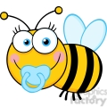 5609 Royalty Free Clip Art Baby Boy Bee Cartoon Mascot Character