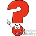 6259 royalty free clip art happy red question mark cartoon character pointing with finger  gif, png, jpg, eps, svg, pdf