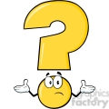 6270 royalty free clip art yellow question mark cartoon character with a confused expression  gif, png, jpg, eps, svg, pdf