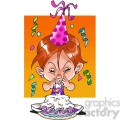 girl birthday party cartoon