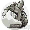 steam train superhero  gif, png, jpg, eps, svg, pdf