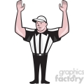 american football referee frnt touchdown  gif, png, jpg, eps, svg, pdf