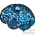 brain map illustration polygons