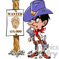 western cartoon wanted sign