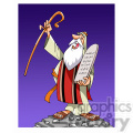 Moses cartoon caricature