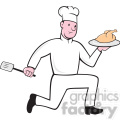 chef holding chicken front view shape  gif, png, jpg, eps, svg, pdf