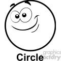 geometry circle cartoon face clip art graphics images