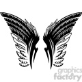 vinyl ready vector wing tattoo design 054